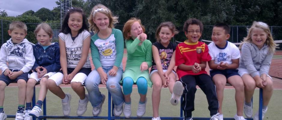 Tennisles bij Amstelhof